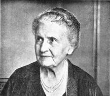 María Montessori (1870 - 1952). Jardín Infantil Cosmos Montessori. Educación alternativa. Barrio Cedritos. Zona norte de Bogotá. Colombia. Educación para niños y niñas.